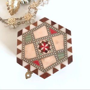 Other - Decor Jewelry western geometric rustic wood box